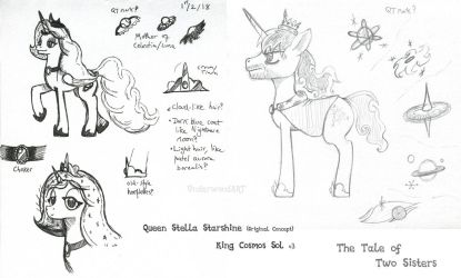 King and Queen Concepts 2 (Tale of Two Sisters) by UnderwoodART