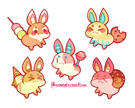 (CLOSED) Cheap Candy Buns by scarletscreations