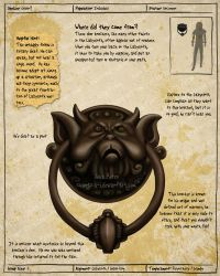 Labyrinth Guide Door Knocker 2 by Chaotica-I