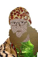 Self portrait   aka:pizza hat by lunchbizzle