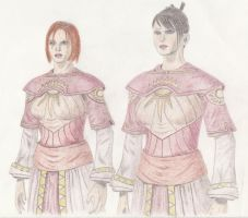Morrigan and Leliana - Escape from Fort Drakon by suilven19