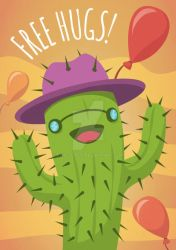 Cactus Illustration - Funny Poster by twister025