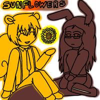 Sunflower Squirrels by forestchick501