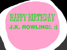 Happy Birthday JK Rowling! by Nolan2001
