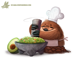Daily Paint #1141. Guaca' Mole by Cryptid-Creations