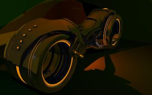 Self Shaded Tron Light Cycle by b1gdan