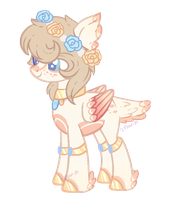 Pastel Pink Feathered Pegasus Auction-(CLOSED) by Faw-n