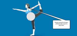 Stuffed Belly Wii Fit Trainer by superfoxdeer