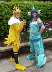 I choose you, Jolteon and Vaporeon! by ToonTwins