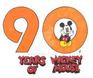 Mickey Mouse 90th Anniversary Tribute by zombiegoon