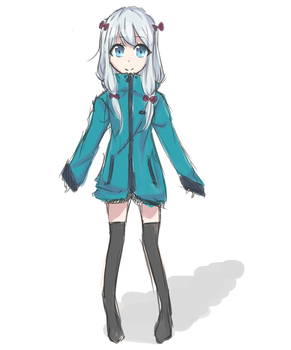 Sagiri Sketch by PixelPingu