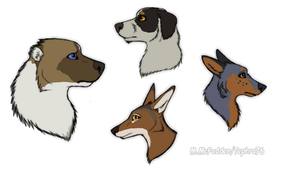Canine Character Headshots by Tephra76