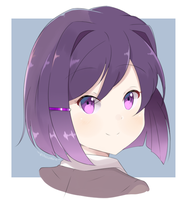 DDLC - Yuri (Short Hair) by chocomiru02
