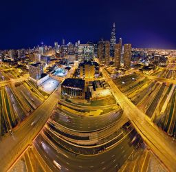 Chicago pano-Skybridge by delobbo