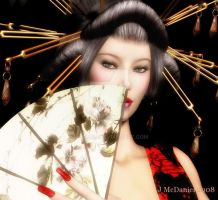 Portrait of a Geisha by jjean21