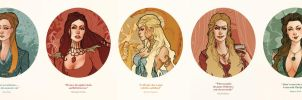 Game of Thrones' Queens by SimonaBonafiniDA