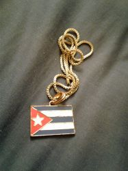Roman's Cuban Flag Necklace by AnthroMan106