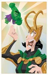 Loki's Green Smack Down by AndrewJHarmon