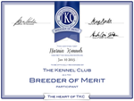 Breeder of Merit Certificate! by NarniaOrca
