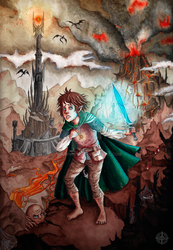Frodo and the light of Sting by Noemnerys
