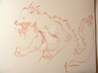 WereWolf - # Inktober 2014 - Day 16 by LaurierTheFox