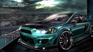 Mitsubishi Lancer Evo X WTBR1 by DarknessDesign