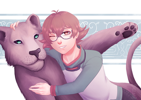 Pidge and the Lioness - Voltron by Didules