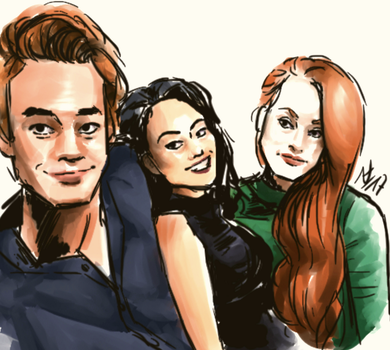 Riverdale - KJ Apa Camila Mendes Madelaine Petsch by thalle-my-honey