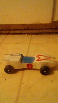 Mach 5 Pinewood Derby Car by Hawkheart29