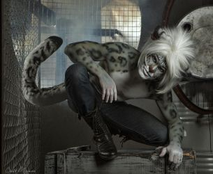 Gabriel. The Snow Leopard. (4) Cat makeup. by Kittenboy