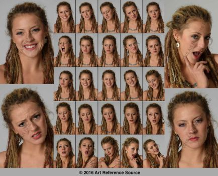 Stock:  Sara 25 Expressions by ArtReferenceSource
