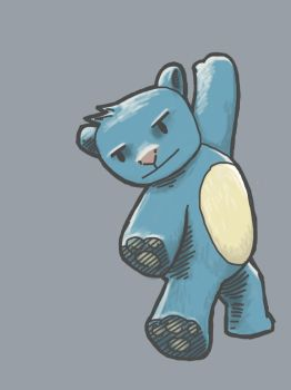 Blue Bear by psychoduck