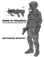 mech infantry concept art by toiletbear