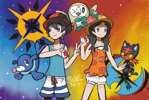 PKMN Trainers Sun and Moon Want to Battle by PKMNMasterM