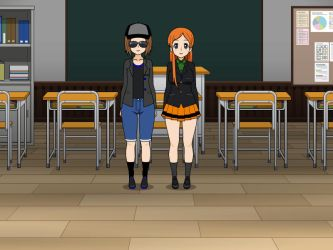 Kisekae Steve and Midna's final school day by MarnicSteve92