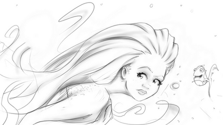 The Random Mermaid- Surface pro 2 by SavantGuarde