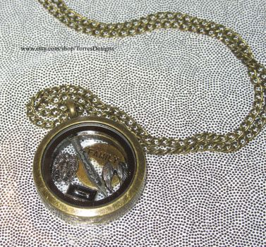 Supernatural Floating Charms Locket Necklace OOAK by TorresDesigns