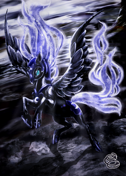 Nightmare Moon portrait v2 by Miradge