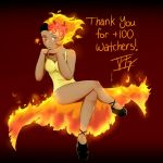 Moltres Gijinka (Redraw) - Thank you +100 Watchers by thegreatsix