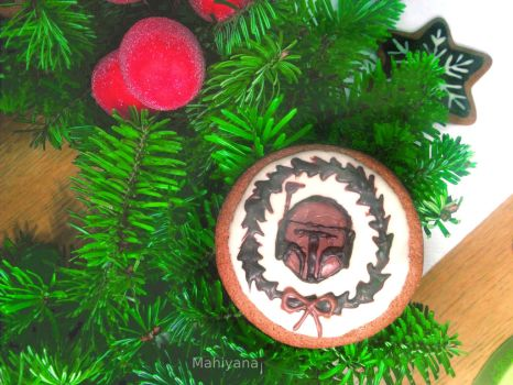 Boba Fett Christmas Gingerbread by MahiyanaCarudla