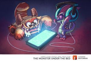 monsters under the bed by MichelVerdu