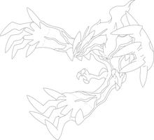 Lineart Of Yveltal By InuKawaiiLover