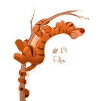 #19 Daily Paint - Tigger by Fefss