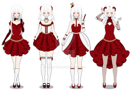 Red lady (Dress+Simple hair Export) by LilyKai12