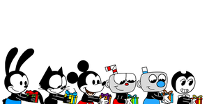 Rubber Hose Toons with Christmas gifts by MarcosPower1996
