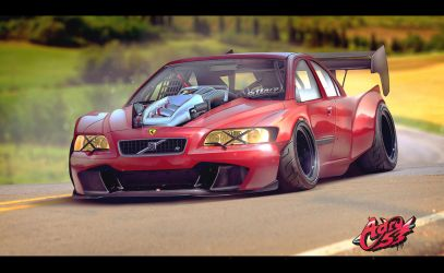 [Commission Work] Volvo S60R on Steroids by Adry53