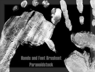 hands and feet Brushset by paranoidstock