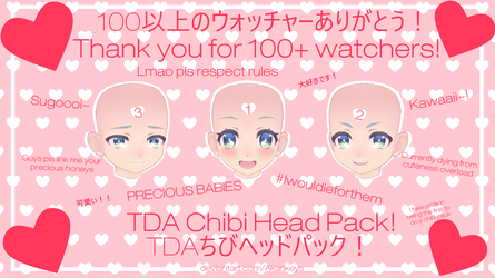 100+ Watchers Special - TDA Chibi/Child Head Pack! by AkariKeys