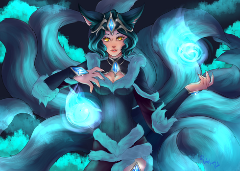 Midnight Ahri by The-Moonlore