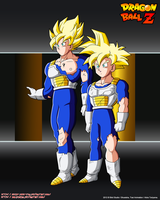 Goku and Gohan SSJ Damage  SCTCH by Seiya-Dbz-Fan